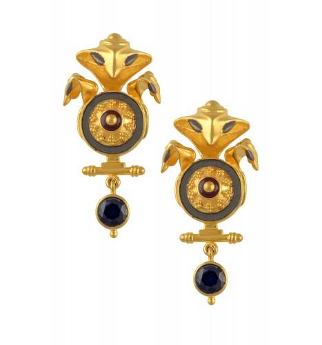 Serpent Rawa Charm Zircon Drop Earrings