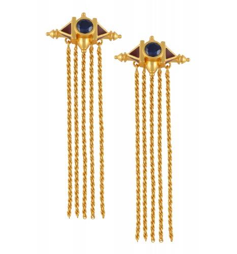 Dome Tassel Earrings