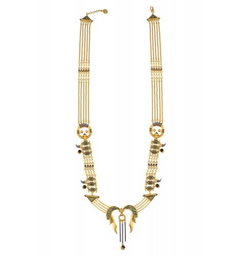 Shiva Trishul Statement Long Chain Necklace
