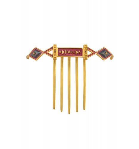 Enamelled Mantra Hair Pin