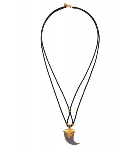 Dual Tone Dagger Thread Necklace