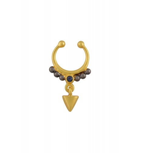 Dual Tone Rawa Triangle Charm Septum Ring