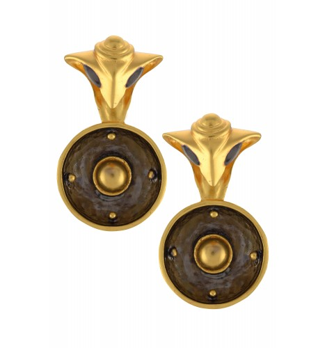 Dual Tone Serpent Ear Studs