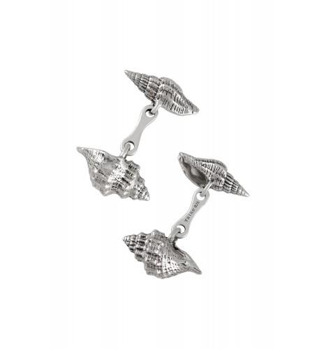 Silver Shell Cufflinks