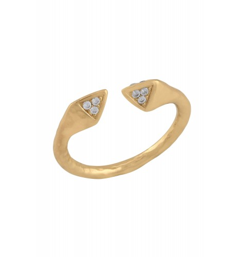 Gold Plated Pyramid Embellishment Ring