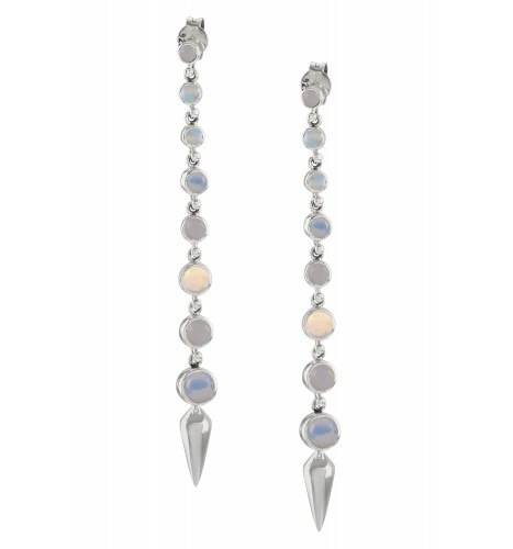 Silver Opal Ascending Earrings