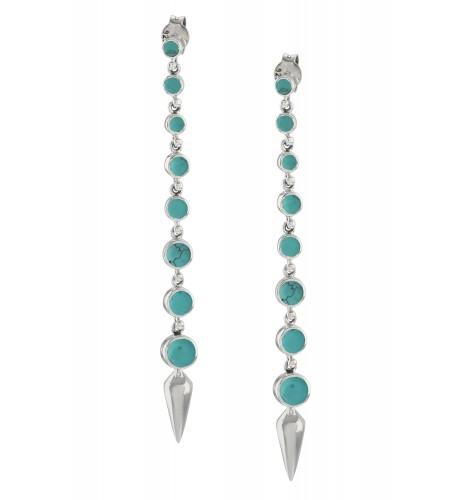 Silver Turquoise Ascending Earrings