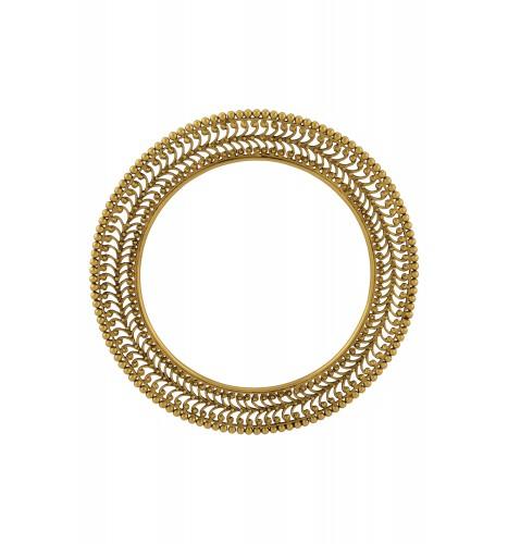 Silver Gold Plated Rawa Bangle