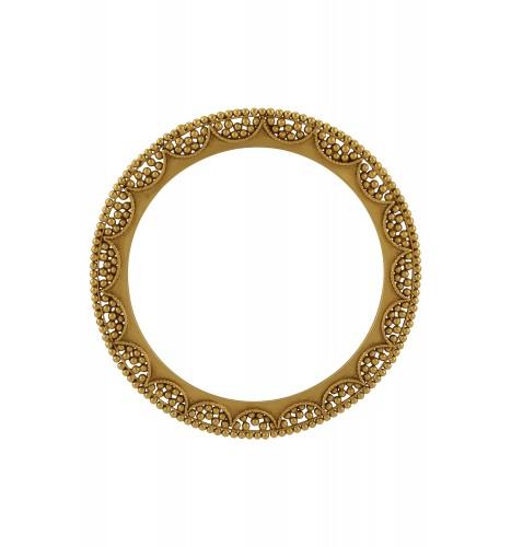 Silver Gold Plated Chaand Rawa Bangle