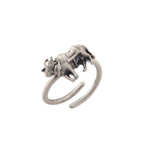 Holy Cow Silver Plated Ring