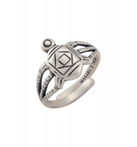 Turtle Silver Plated Ring