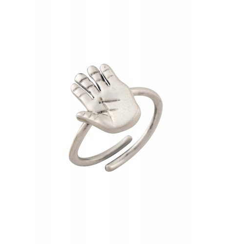 Palm Silver Plated Ring