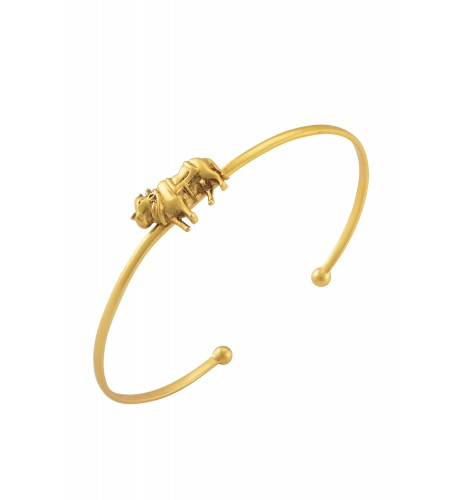 Holy Cow Gold Plated Bangle