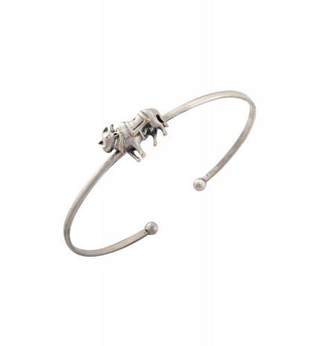 Holy Cow Silver Plated Bangle