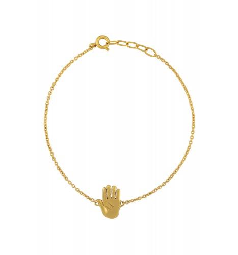 Palm Chakra Gold Plated Bracelet