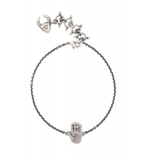 Palm Silver Plated Bracelet