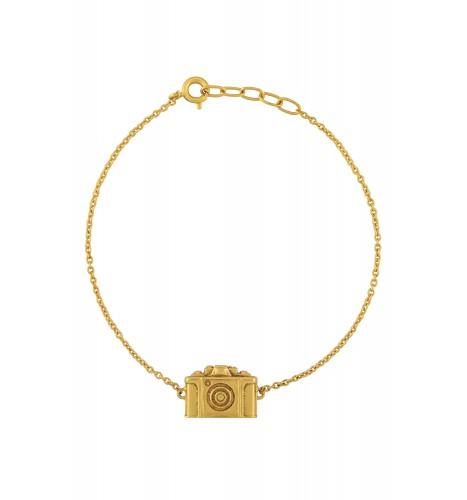 Camera Gold Plated Bracelet