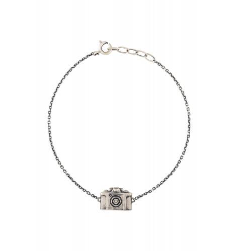 Camera Silver Plated Bracelet