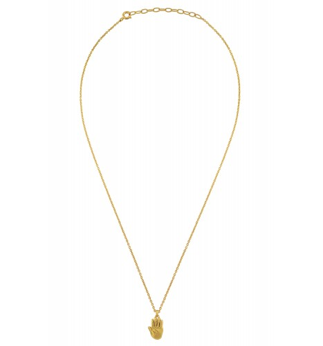 Palm Gold Plated Necklace