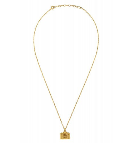 Camera Gold Plated Necklace