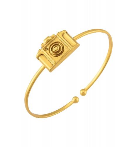 Camera Gold Plated Bangle