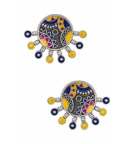 Color Pop Round Pin Ear Studs