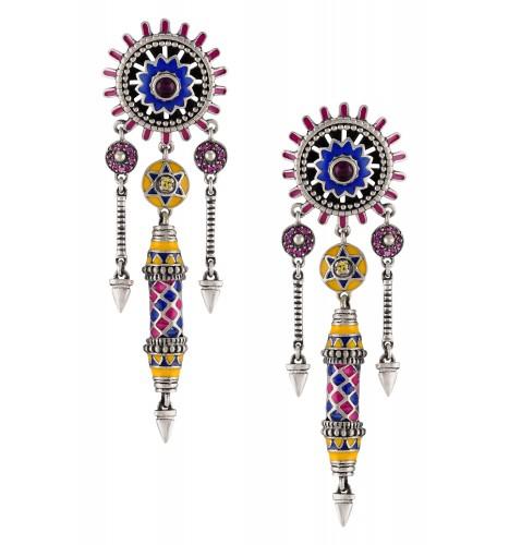 Color Pop Chakra Pillar Earrings