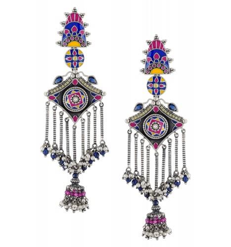 Color Pop Beaded Tassel Earrings