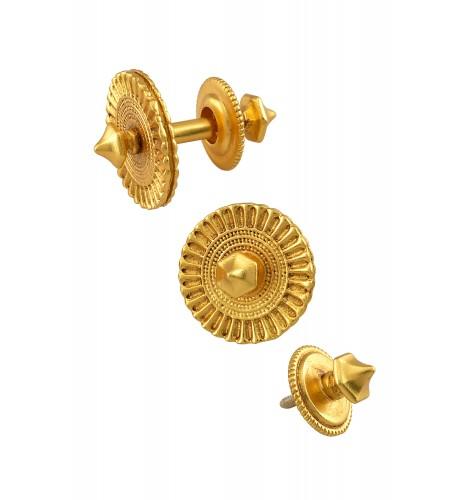 Silver Gold Plated Chakra Spike Cufflinks