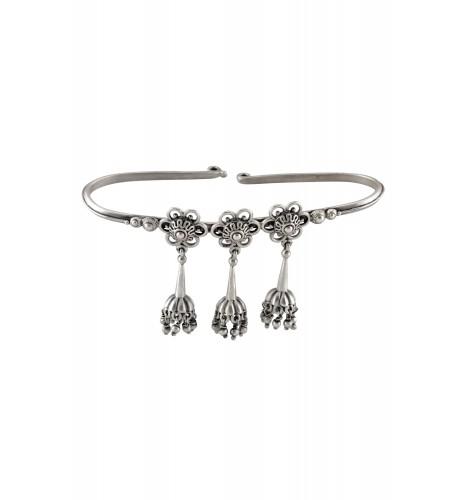 Silver Oxidised Jhumki Drop Handcuff