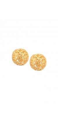 Silver Filigree Ball Earrings