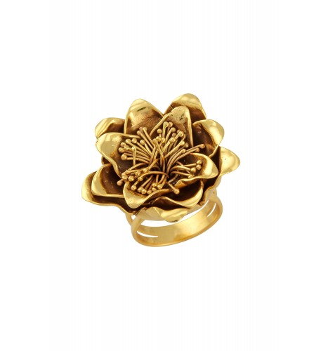 Gold Plated Floral Ring