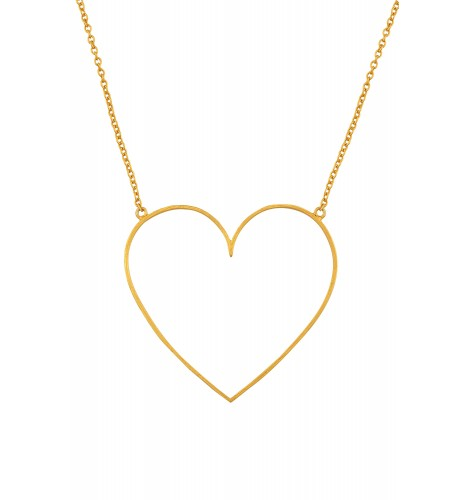 Gold Plated Big Heart Pendant