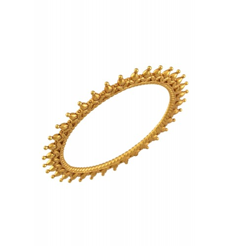 Silver Gold Plated Leafy Rawa Bangle