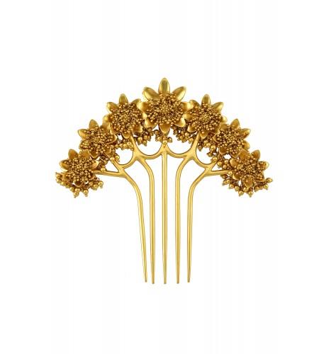 Silver Gold Plated Multi Flower Rawa Juda Pin