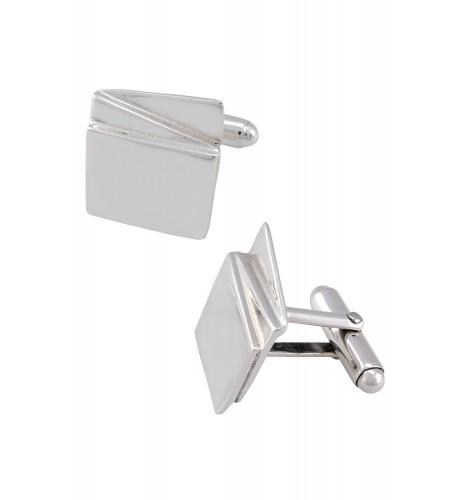 Silver Geometric Block Cufflinks