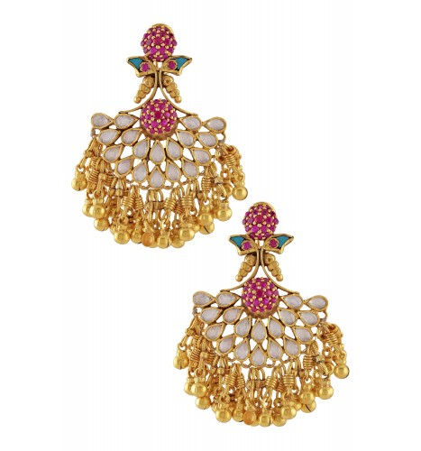 Silver Gold Plated Multi Crystal Ball Bead Cluster Earrings