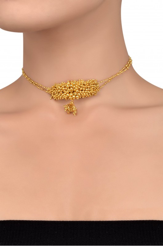 karat in metallic lyst necklace amrapali gold enamel jewelry