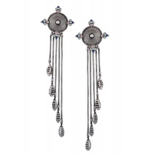 Multi Enamel Coin Earrings