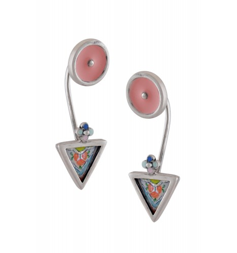 Hand Painted Triangle Earrings
