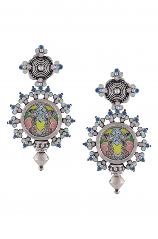 earrings confluence mini india women online amrapali crystals from buy sunset swarovski in