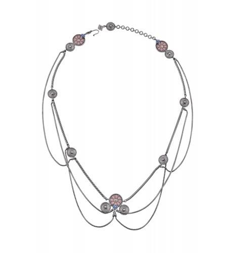 Pink Enamel Coin Head Jewel