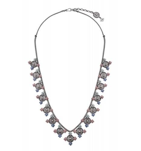 Multi enamel Coin Necklace