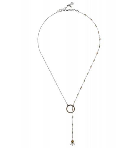 Silver Citrine Floral Pendant