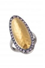 Tribebyamrapali-Silver Gold Plated Dual Tone Ring