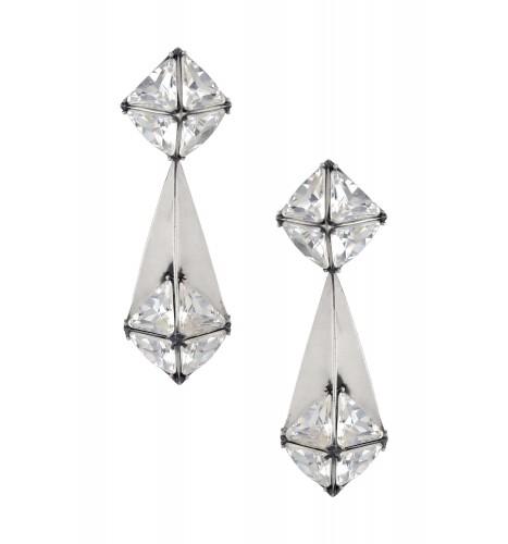 Swarovski Pyramid Earrings