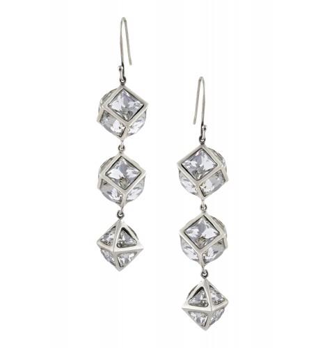 Swarovski Geometric Drop Earrings