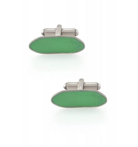 Green Enamel Board Cufflinks