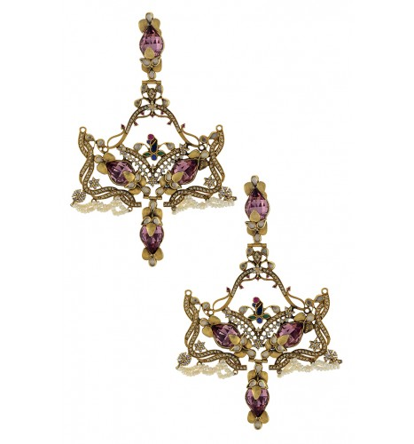 Swarovski Antique Pink Colossal Earrings