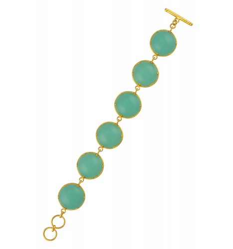 Green Glass Round Bracelet